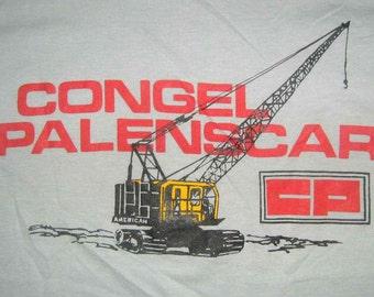 Vintage 80s CONGEL PALENSCAR Gray T shirt