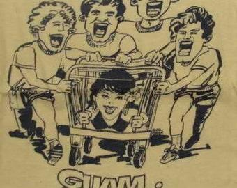 Vintage 80s Guam Carole Kai Bed Race Yellow T Shirt