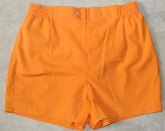 Vintage 80s McGregor Yellow Permanent Press Sporty Shorts 34