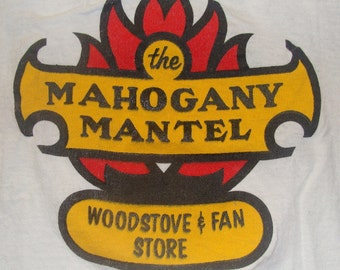 Vintage 80s The Mahogany Mantel BJ 97 FM White T Shirt