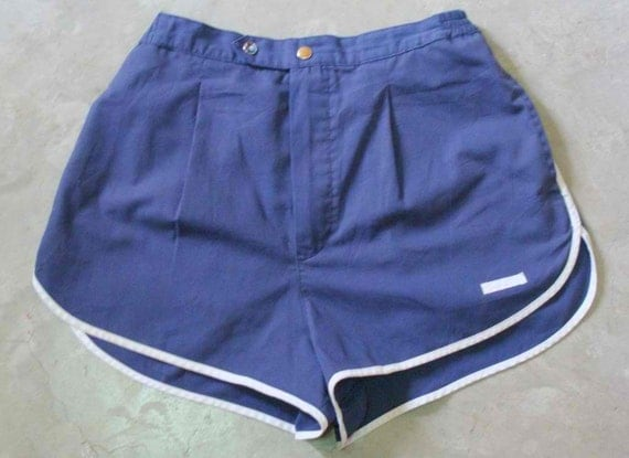 Vintage 90s CHRISTIAN DIOR Blue SPORTY Shorts