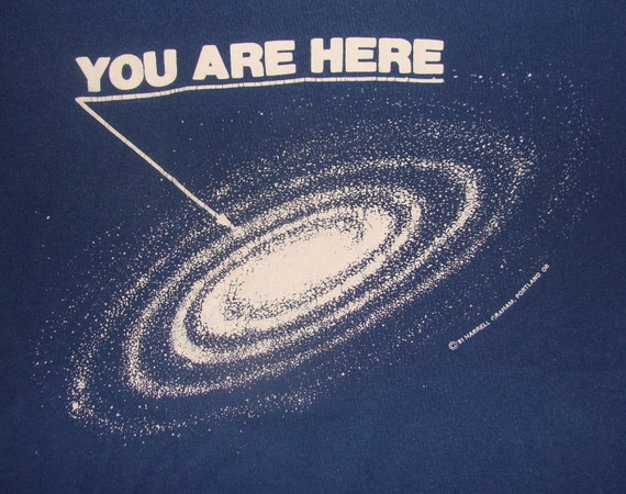 Vintage 81 You Are Here Dark Blue T Shirt