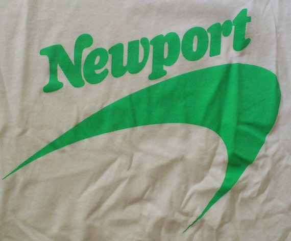 Vintage 80s Newport Cigarette White T-Shirt