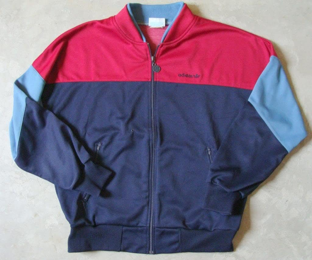 vintage 80s adidas trefoil retro track jacket. Black Bedroom Furniture Sets. Home Design Ideas