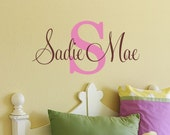 Childrens Wall Decal - Name Wall Decal - Wall Decals Nursery - Monogram Wall Decal - Girls Name Vinyl Wall Decal