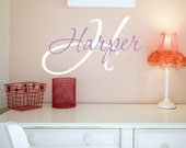 Wall Decals Nursery - Name Wall Decal - Girls Name Vinyl Wall Decal - Childrens Wall Decals - Personalized Name