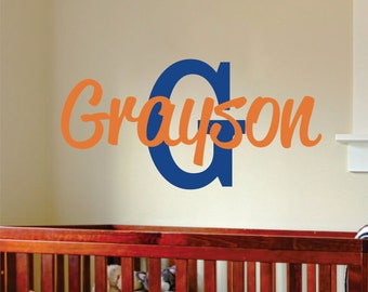 Boys Custom Name Wall Decal //  Boy Name Wall Decal // Custom Monogram // Boy Art Decor // Custom Name Decal