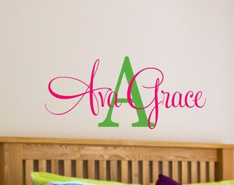 Girls Name Wall Decal - Name Wall Decal - Nursery Wall Decal - Teen Name Wall Decals - Personalized Wall Decals