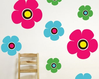 Flower Wall Decal - Flower Sticker -  Nursery  Wall Decals - Teen Decor- Nursery Decor