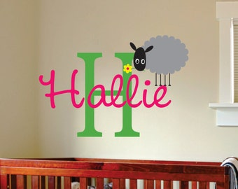 Childrens Name Wall Decal With Cute Bird Name Wall By Lucylews