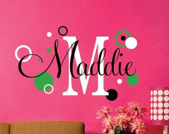 Childrens Wall Decals - Name Wall Decal - Wall Decals Nursery - Name Wall Decal - Kids Wall Art