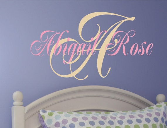 Childrens Wall Decal - Name Wall Decal - Nursery Wall Decal -Girls Name Vinyl Wall Decal Personalized