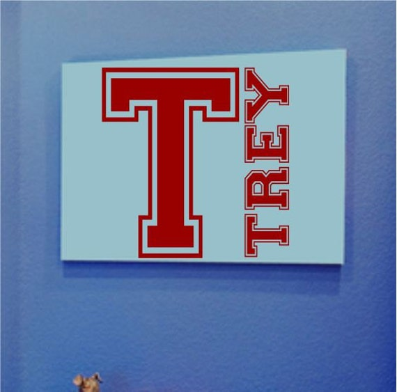 Boys Name Wall Decal - Boys Bedroom Decor - Sports Wall Decals