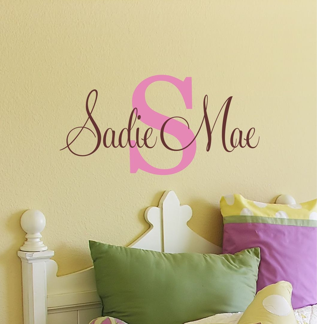 Name Wall Decals For Nursery Tags: Childrens Wall Decal Name Wall Decal Wall Decals Nursery