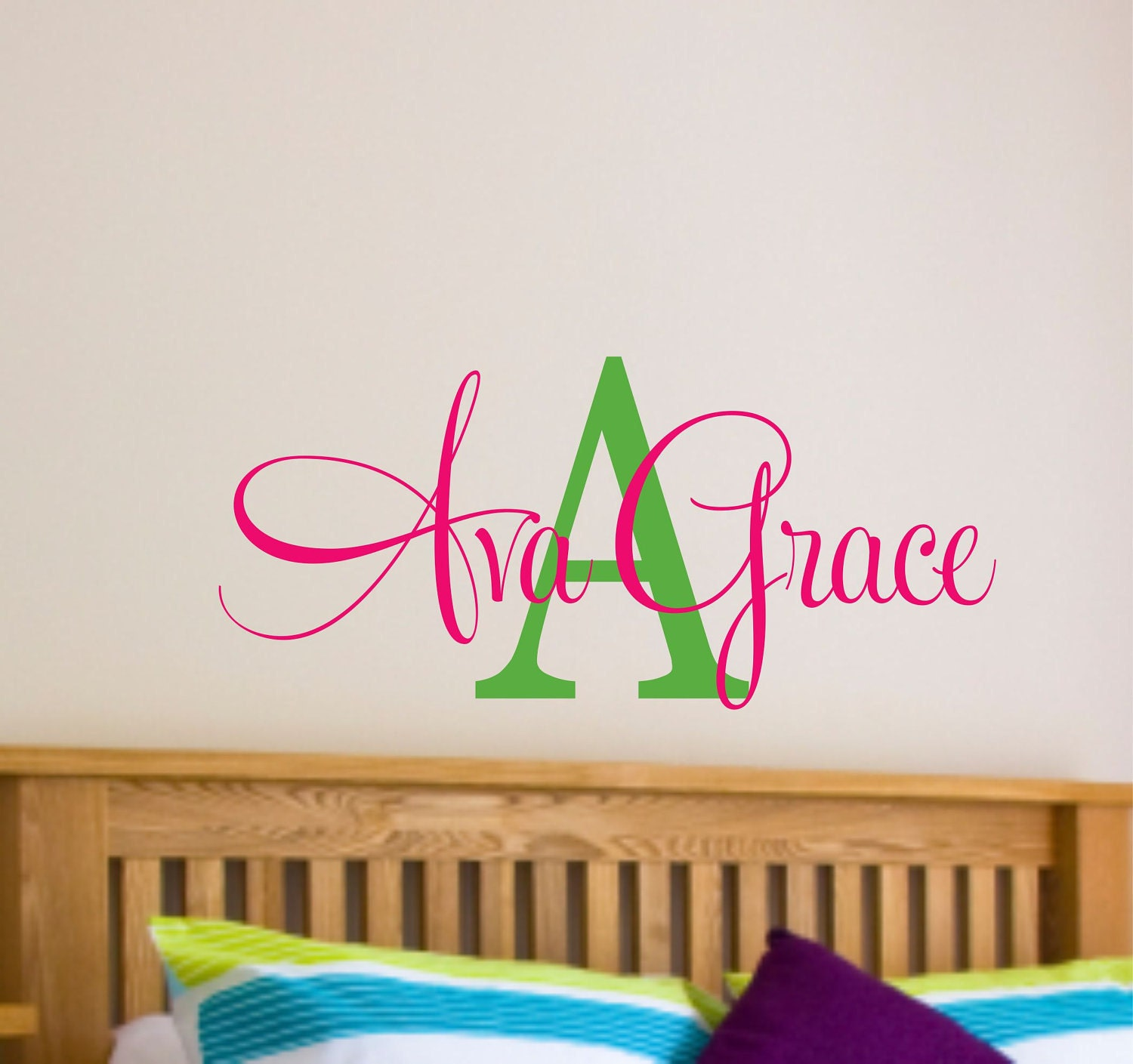Girls name wall decal name wall decal nursery wall decal zoom amipublicfo Choice Image