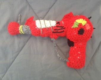 Call of Duty Zombie Ray Gun Crocheted replica
