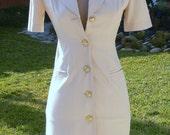 Cream color summer dress Size 0  union label