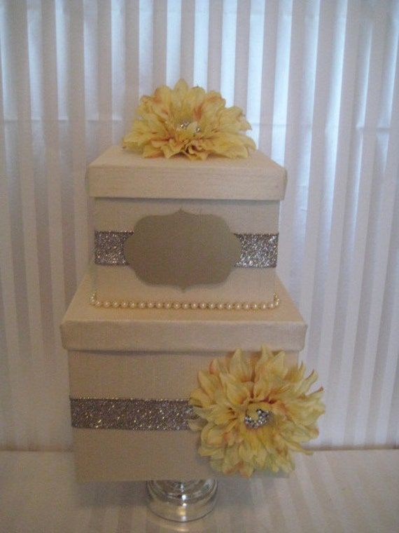 "Wedding Card Box- The ""Brittany""-Custom wedding Card Box, gift card holder-Custom Order Your Custom Box Today"