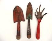Rusty Crusty Vintage Garden Tools