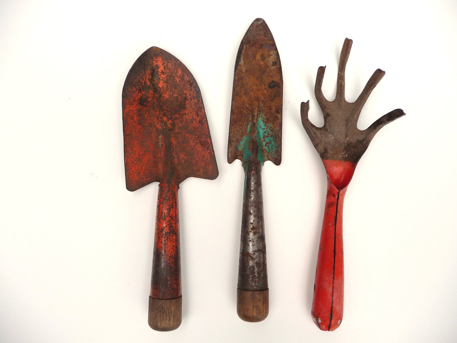 rusty crusty vintage garden tools by misscecelia on etsy