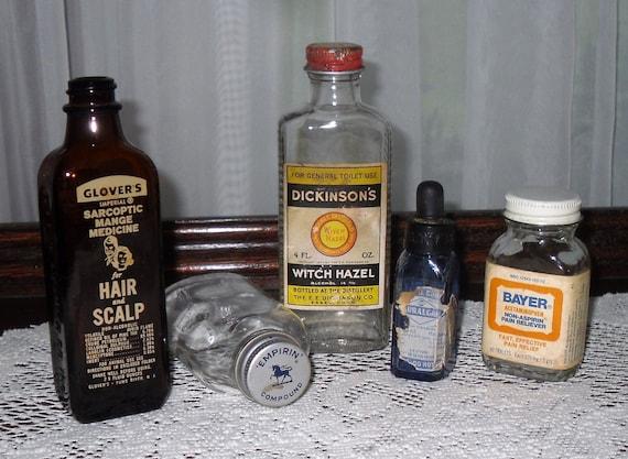 Instant Collection Of Vintage Glass Medicine Bottles