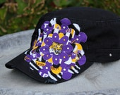 Louisiana State Univ. LSU Tigers zebra - Embellished military hat cadet cap