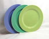 Art Deco Harlequin Plate Chartreuse Dinner Plate China  Fiestaware Riveriaware Vintage