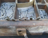 Vintage Small Metal Letterpress Blocks Alphabet Scripts Industrial Steampunk Jewelry Printing Blocks Pieces Steampunk Art Jewelry Supplies