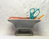 Art Deco Style Dusky Grey Salmon Pink Royal Windsor Planter Vase Office Bathroom Organizer Gift for Him Her