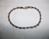 Fabulous Silver Link Bracelet Signed Sarah Coventry