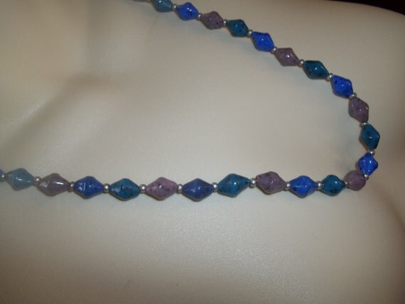New Ceramic Beaded Necklace With Speckles On Beads