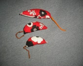 Red Floral print mouse toys