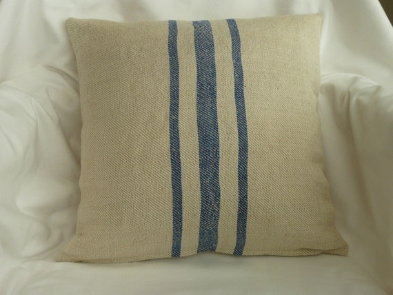 vintage feed sack pillow covers 16 x 16. Black Bedroom Furniture Sets. Home Design Ideas