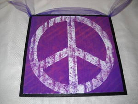 Peace Sign Bedroom Accessories: White Peace Sign On Purple Wall Art Sign Girls By Melimarlatt