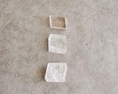 2  pcs clear pink calcite cubes