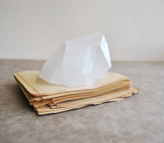 giant quartz crystal point specimen