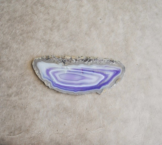 Large lavander dyed agate slab slice from brazil