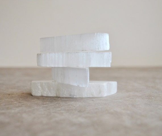 instant collection beautiful selenite slabs 4 pcs