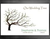 Thumbprint Guest Book Wedding Tree No. 4 - PDF Version DIY