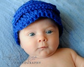 Newborn Baby Boy or Baby Girl Baseball / Newsboy Hat - READY TO SHIP - Photography Prop
