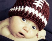 Newborn Baby Boy or Baby Girl Football Beanie Handmade - READY TO SHIP- Photographers Prop