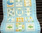 Sweet cotton baby quilt with cotton/bamboo batting