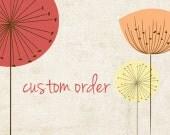 Custom order for Anni: Funky Poppy Photo Mat 11x14 White