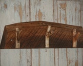 Rustic Coat Hook Wall Shelf