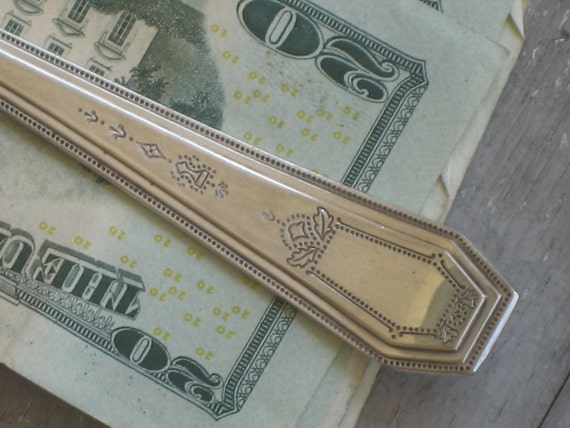 Vintage Silverplate Fork Money Clip-Upcycled Silver Flatware Accessory