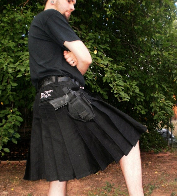 Trinity Tactical Kilt shown in Black