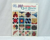 101 Foundation Pieced Quilt Blocks - by Linda Causee - Full-Size Patterns Quilting