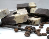 Vanilla Bean Latte, enriched with cocoa, shea & avocado butters and organic coffee (Vegan)