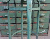 Vintage Green and Chrome Industrial Stool RESERVE for Msilotto