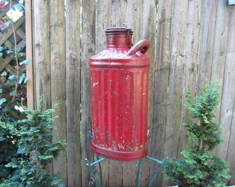 Antique Ribbed Gas/Kerosene Can PRICE REDUCED